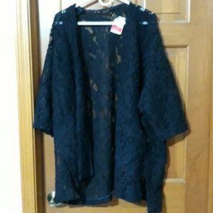 Zara basic Lacy cardigan sweater